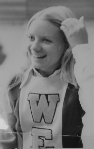 Me as a cheerleader...