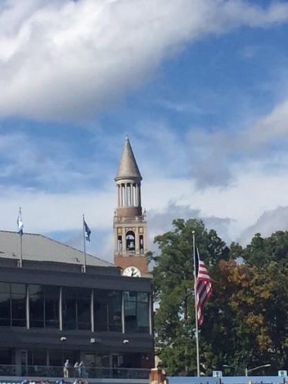 Bell Tower... Carolina skies!