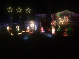 Nativity in lights...