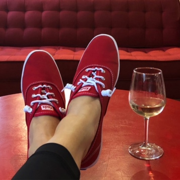 It was a Red Shoes kind of day...