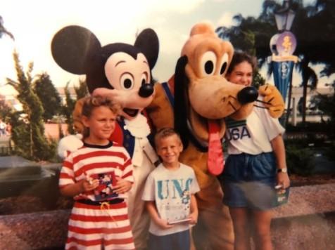 Mickey, Pluto, & my kids!