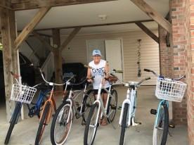 Air in tires, bikes ready!