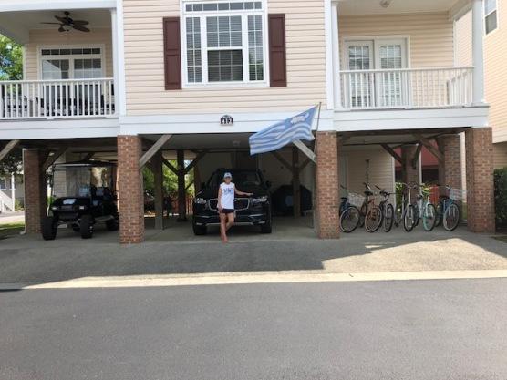 Clean golf cart, bikes, house!