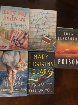 Read 5 books this trip!