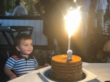 14 layer cake...BIG Candle!