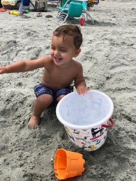My bucket is as big as me!