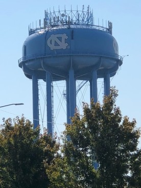 Water tower....Carolina Blue!