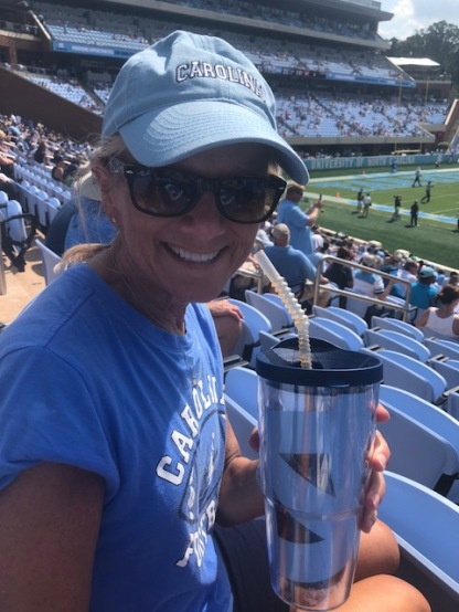 Halftime with my birthday UNC cup! Filled it up many times!