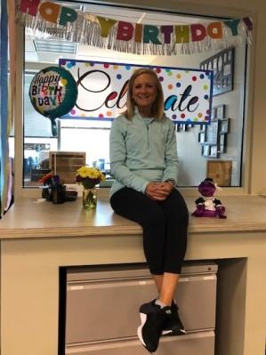 My birthday...my office!