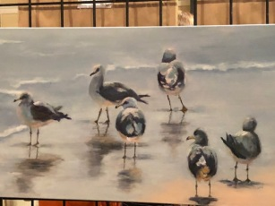 """Watching and Wading"".... Prize winning art!"