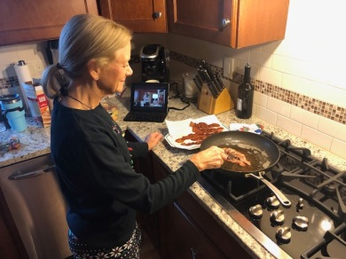Once a year bacon with a Hallmark movie on the side!