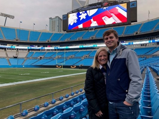Panthers' Stadium with Carolina Blue seats!