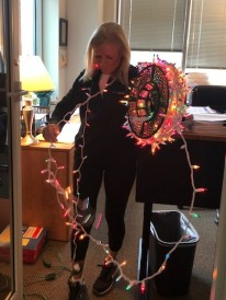 Time to take down my office Christmas lights...