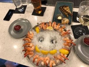 Accountants' dinner - we count the shrimp! 15 each!