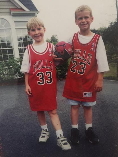 Scottie Pippin and Michael Jordan! with no front teeth!