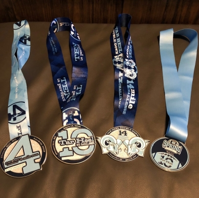 Older Daughter's 4 medals!