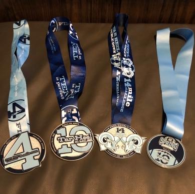Older Daughter's 4 medals!