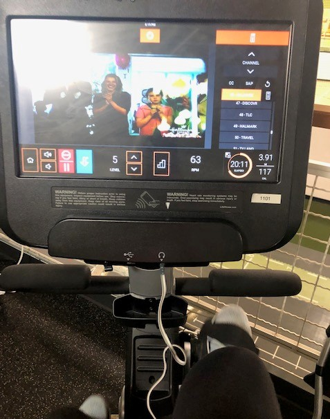 Limited to 20 minutes on the recumbent bike (luckily there was a Hallmark movie on!)...