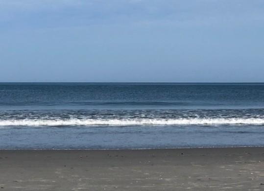 Calm ocean...