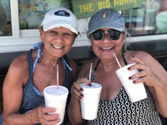 Double fisted beach drinking!