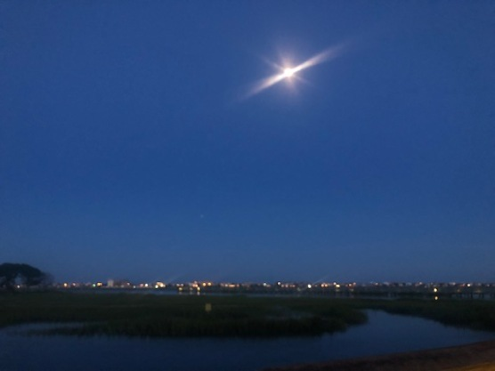 Strawberry Moon over Murrell's Inlet...