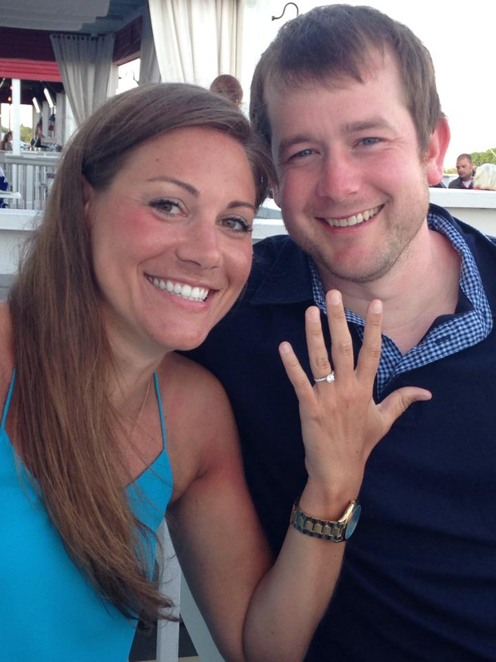 Happy newly engaged couple - 2014!