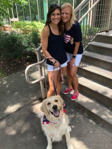 My beautiful daughter and granddawg decked out for the 4th!