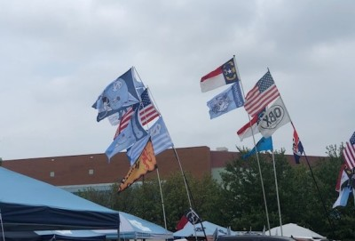Flags are flying...