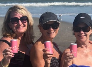 Crose' Rose' on the beach! In a can!