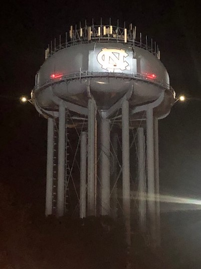 Water tower post game!