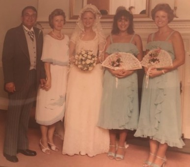 See Mom's dress? My beautiful family...