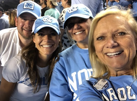 4 VERY happy Tar Heels!