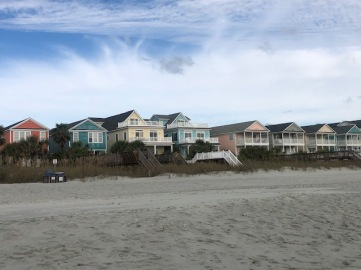 Such colorful beach houses...