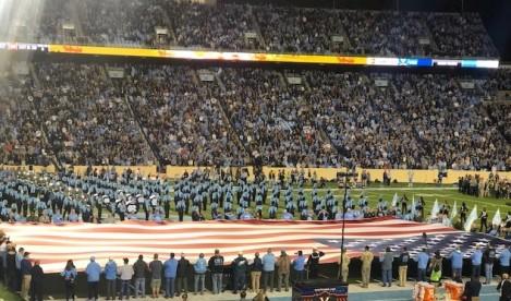 National anthem...