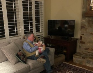 Bottle time with Great Uncle Den!