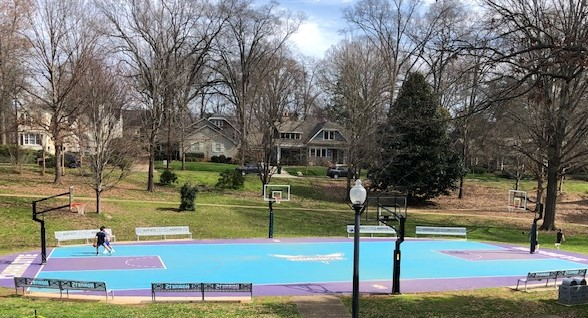Charlotte court in the park...