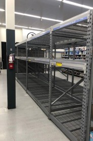 Uh... empty shelves!