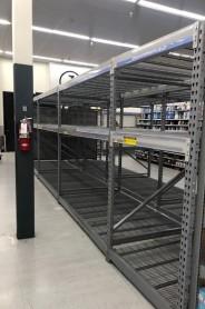 Uh... empty shelves!