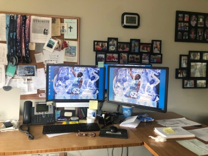 I miss my office and my office misses me! We have great IT guys... don't you love my screen savers!