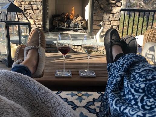 Porch wine...