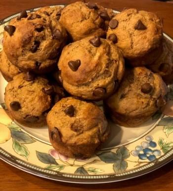 Baking... banana muffins...