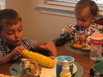 Birthday dinner for Jack and Izzie - their favorite foods!