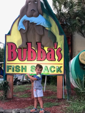 Jack and I picked up dinner at Bubba's!