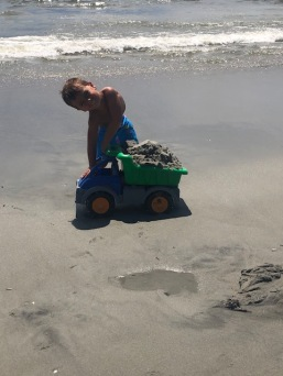 Always need dump truck when building a sand castle.