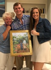 My sister's gift to the bridal couple! She painted one of their engagement photos...
