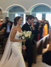 Here comes Mr. and Mrs. Madigan!