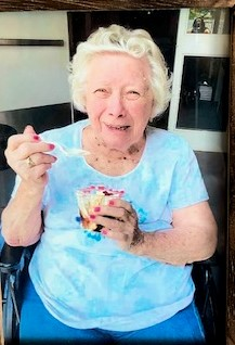 Mom loved ice cream... and was so happy.
