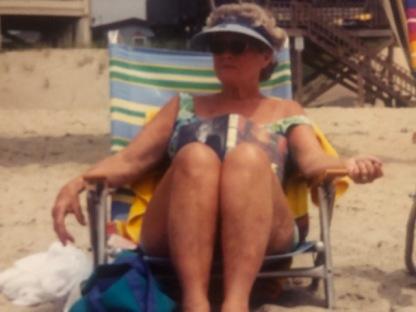 Reading on the beach...