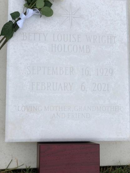 Mom's headstone...